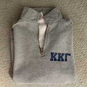 Sweaters - Sorority quarter-zip KKG